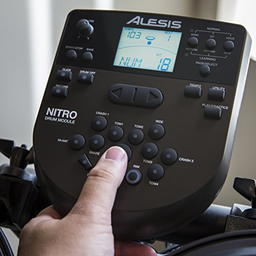 Alesis Nitro Kit Electronic Drum Set with 8 Snare 8 Toms and 10 Cymbals