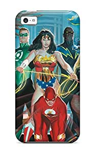 For Iphone 5c Fashion Design The Justice League Painting Case-NwUAmjY12060rziot