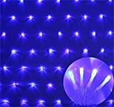 REDOI Christmas Flash Christmas Net Fairy Series Lamp Wedding 8 10m (Blue)8 Flash Mode Controller Waterproof