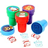 Studyset 4Pcs/Set Christmas Series Cartoon Seal Cute Self Inking Seal Stamper Toy Kids