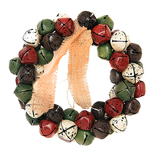 - Chezaa Merry Christmas Xmas Wreath Ornament Kids Gift, Flower Poinsettia Pine Wall Hanging Christmas Wreath Decoration Garland Ornament Party Decor for Christmas Home Holiday Party Weeding (Colorful)