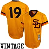 Tony Gwynn San Diego Padres #19 Men's Mitchell & Ness 1982 Authentic Mesh Batting Practice Jersey