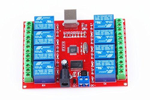KNACRO SRD-05VDC-SL-C 8-way 5V Relay Module Free driver USB control switch PC intelligent control (5V 8-Channel) by KNACRO (Image #8)