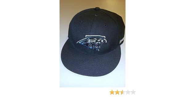 73c8f316 Carolina Panthers Fitted Flat Bill Reebok Hat - Size 7 3/4 - T987K