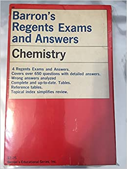 Chemistry (Barron's regents exams and answers): Michael J Walsh