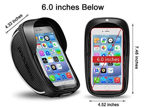 RockBros Bike Phone Bag Waterproof Handlebar Bicycle Phone Case Sensitive Phone Mount Bag Holder For iPhone X 8 7 Plus 6s Below 6.0'' by RockBros (Image #5)