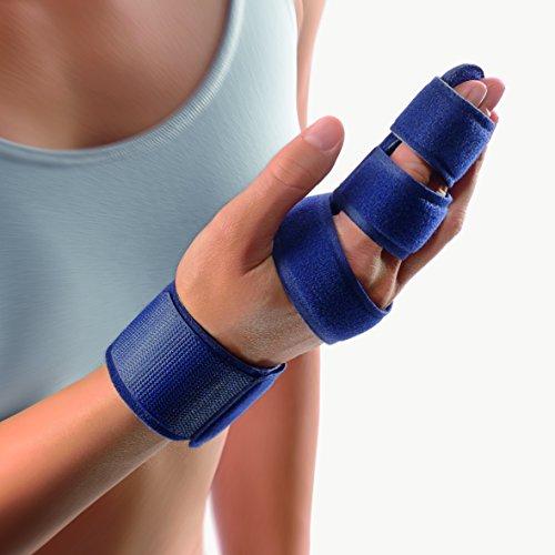 Bort 112770 DigiSoft- Hand, Two Finger Immobilizer, Splint Cast for Broken Joints, Trigger Finger, Sprains, Straighten Knuckles Index, Middle, Pinky, Orthopedic Size #2 (6.3″ - 7.5″ inches)