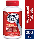 Glucosamine & Chondroitin Advanced Joint Health Supplement Tablets, Move Free (200 Count in a Bottle), 2 Pack