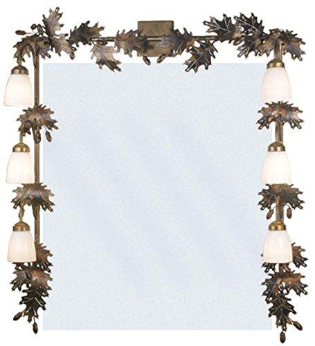 Meyda Tiffany 82074 Oak Leaf & Acorn 6 Light Vanity Light Fixture, 36