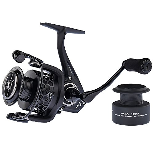 KastKing Mela II Spinning Reel - Light, Smooth Spinning Fishing Reel, 10 + 1 BB, Powerful Carbon Fiber Drag, FREE Spare Graphite Spool, New for 2017!