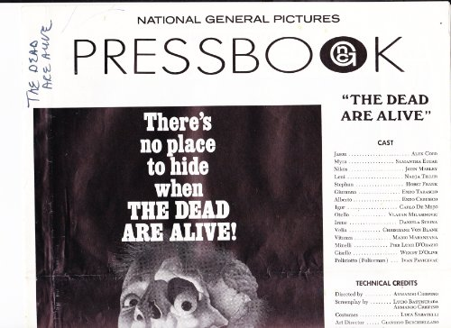 THE DEAD ARE ALIVE Pressbook (1972) (Zombies)