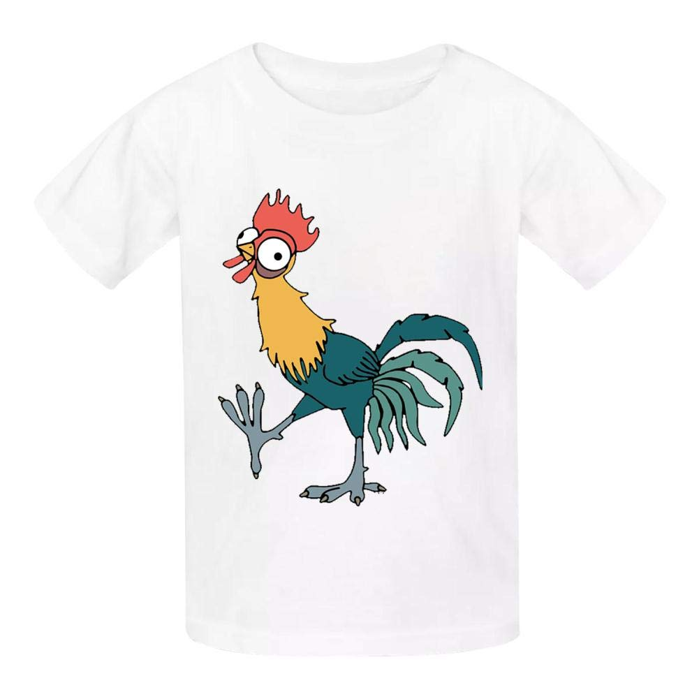 Della Graham Poultry Children and Adolescent 3D Printed Outdoor Short-Sleeved T-Shirt S White
