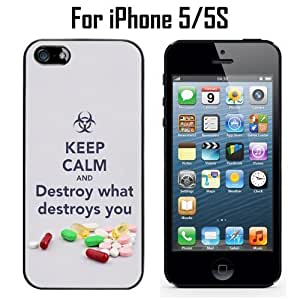 Keep Calm Destroys You Custom Case/ Cover/Skin *NEW* Case for Apple iPhone 5/5S - Black - Plastic Case (Ships from CA) Custom Protective Case , Design Case-ATT Verizon T-mobile Sprint ,Friendly Packaging - Slim Case hjbrhga1544