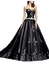 Womens A-line Lace Wedding Dress Sweetheart Floor Length Prom Gown WD171