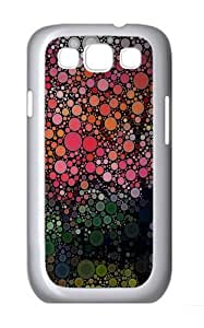 Circles artwork Polycarbonate Hard Case Cover for Samsung Galaxy S3/Samsung Galaxy I9300 White