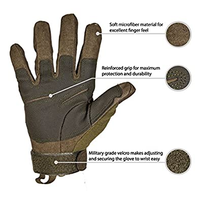 TitanOPS Full Finger Hard Knuckle Motorcycle Military Tactical Combat Training Army Shooting Outdoor Gloves : Sports & Outdoors