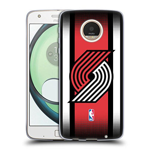 Official NBA Halftone Gradient Portland Trail Blazers Soft Gel Case for Motorola Moto Z Play / - Moto Portland