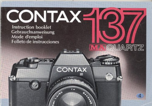 Contax 137 MA Quartz Original Instruction Manual