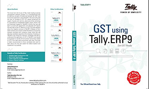 GST Using Tally.ERP 9 Release 6.1