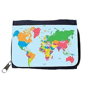 le portefeuille de grands luxe femmes avec beaucoup de compartiments // V00002411 Mapa político del mundo de vector // Purse Wallet