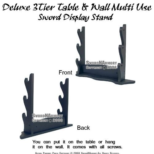 Deluxe 3Tier Table & Wall Multi Use Sword Display ()