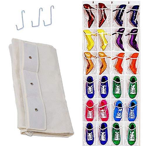 Best Quality 24pockets Clear Hanging Shoes Organizer Holder Storage Baseroom Living, Hanging Storage Pockets - Wall Hanging Pockets, Pocket Organizer Closet, Door Storage Organizer, Stuff Rack by MoonShop