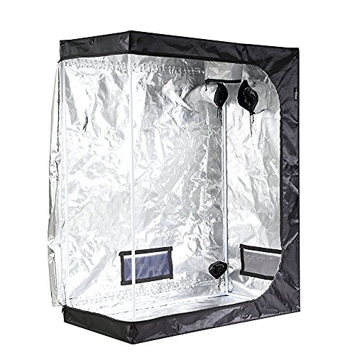 $80.08 indoor grow tent set up iPower 48″x24″x60″ 2'x4′ Hydroponic Mylar Grow Tent with Observation Window, Tool Bag and Floor Tray for Grow Light and Indoor Plant Growing 2019