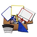 Set of 12 Customizable whiteboards w/dry erase sleeve & interchangeable graphic organizers + BONUS