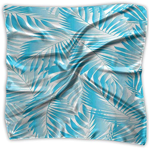 Bandana Head and Neck Tie Neckerchief,Miami Tropical Aquatic Palm Leaves With Exotic Colors Modern Summer Beach,Headband