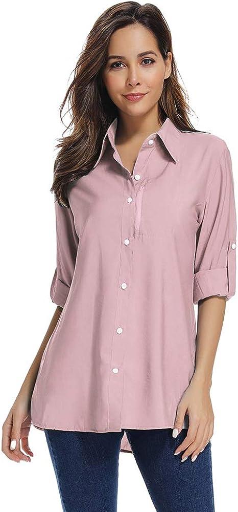 Jessie Kidden camisa de safari de manga larga para mujer, de secado rápido, con protección UV, para senderismo, montañas, camping, pesca #5019 Rosa rosa XL: Amazon.es: Ropa y accesorios
