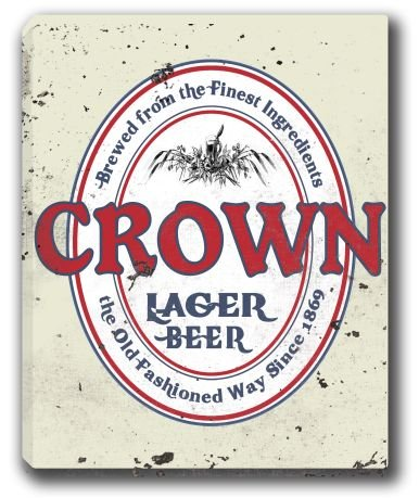 crown-lager-beer-stretched-canvas-sign-16-x-20