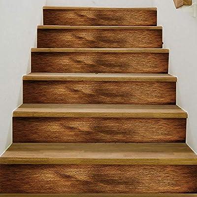 Pegatinas De Escalera 3D Madera De Registro De Madera Pegatinas De Escalera Hogar Pegatinas De Pared Pegatinas Decorativas Escaleras Decorativas Pegatinas De Pared: Amazon.es: Bricolaje y herramientas