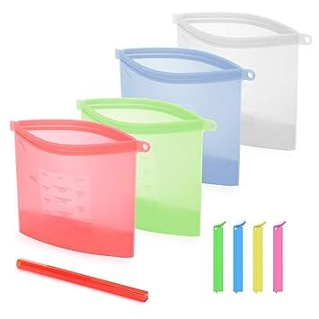 Amazon.com: Bolsas de almacenamiento de silicona ...