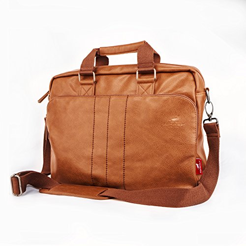 15.6'' PU Leather Laptop Bag Business Briefcase Hand Bag Computer Notebook Office Working Doctor Bag Shoulder Crossbody Bag Handbag by TOPWOLF NEW YORK (Image #1)
