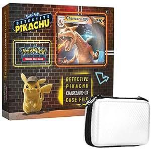 Pokemon TCG: Detective Pikachu Charizard-Gx Case File 6 Booster Pack A Foil Promo Card 1 Master Ball Themed Zipper Card Case A Foil Oversize Card
