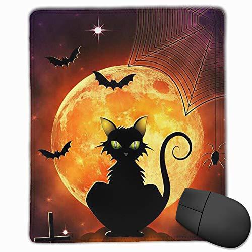 Mouse Pad Happy Halloween Black Cat Personalized Mouse Pad Non-Slip Mouse Mat Gaming Mouse Pad