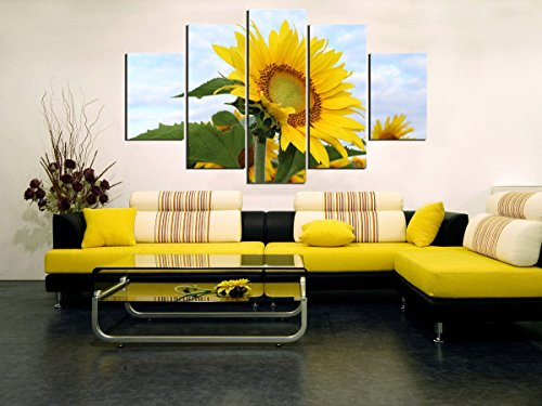 5 Panel Modern Painting Home Decorative Art Picture Paint on Canvas Prints painting sunflower No Frame