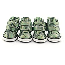 Dofull Camo PU pet shoes leather double lock non slip(DSN24)-Large green