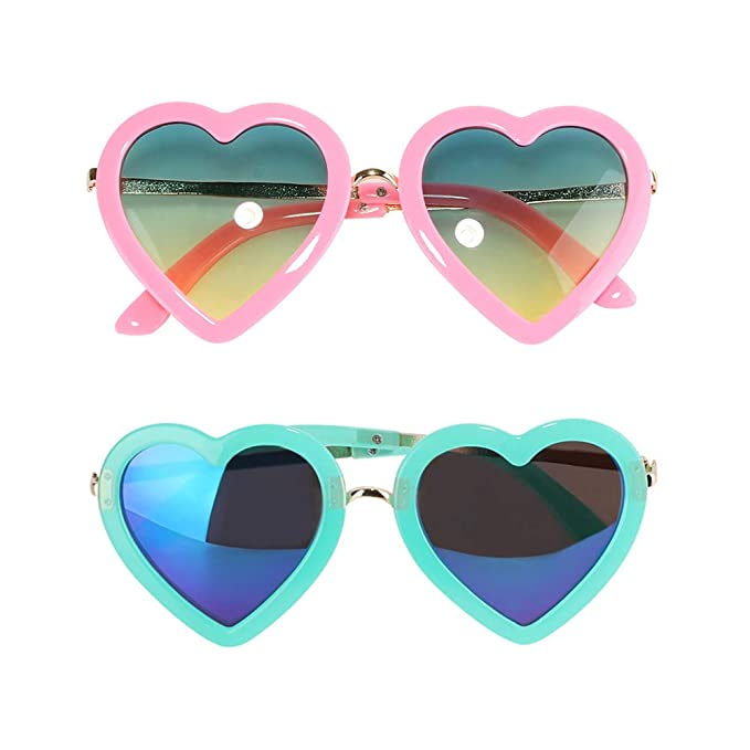 f3cd5c7b622 Amazon.com  click-me 2Pairs Creative Polarized Heart Shaped ...