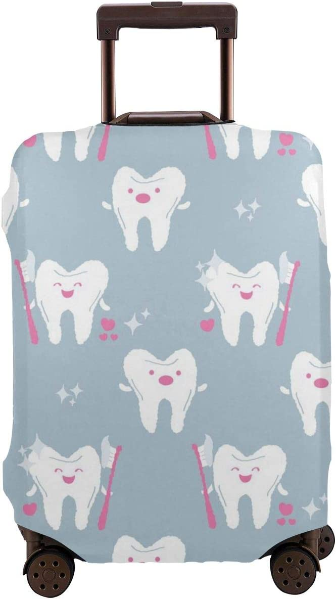 Tooth With Tooth-brush Travel Luggage Cover Suitcase Protector Washable Zipper Baggage Cover