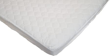 American Baby Company Cobertor Acolchado para Colchón de Encierro para Bebé, blanco
