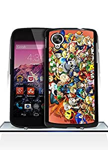 Game Super Smash Bros Funda Case For Nexus 5, Drop Protection Extra Slim Customized Pretty Vintage Pattern Hard Back Funda Case Cover For Google Nexus 5