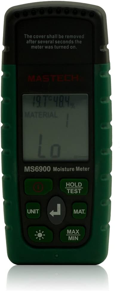 Mastech MS6900 Portable Digital LCD Hygrometer Wood Moisture Meter Temperature Humidity Tester - - Amazon.com