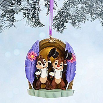 Chip Dale Christmas - Disney Limited Edition Chip 'N Dale Sketchbook Christmas Ornament - Two Chips and a Miss