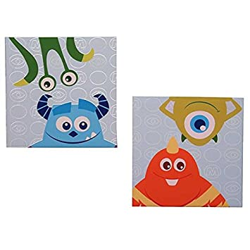 Amazon.com: Monsters Inc. Canvas Wall Art - Set of 2: Baby