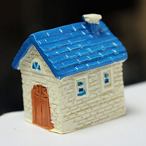 Resin Mini House Micro Landscape Decorations Garden DIY Decor(Random: Color)