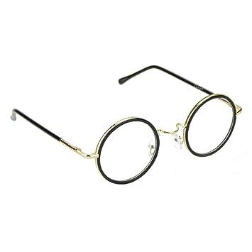 65d9f90d97 Cyxus Retro Round Blue Light Filter Glasses Vintage Anti Eyestrain Redness Metal  Frame (8104T01,