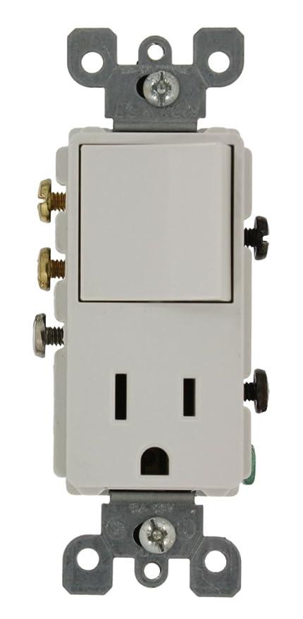 Leviton 5645-W 15 Amp, 120 Volt, Decora 3-Way/AC Combination Switch ...