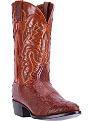 Dan Post Mens Pugh Ostrich Boot-Cognac