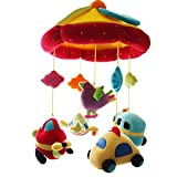 SHILOH Baby Crib Decoration Newborn Gift 60 tunes Plush Musical Mobile (Car & Plane)
